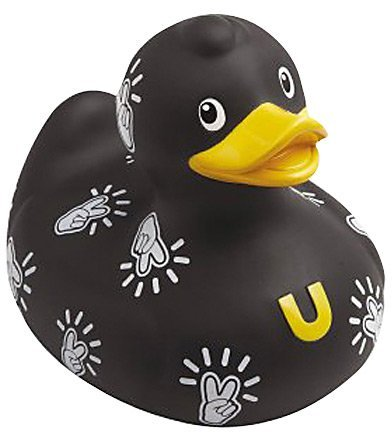 Rubber Duck Bud Mini Bath Tub Toy, Pop Peace