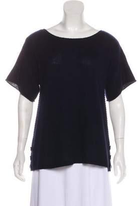 Calypso Cashmere Short Sleeve Top