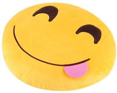Dodomore 1pc Pretty Soft Emoticon Round Cushion Pillow Stuffed Plush Toy Doll Pillow