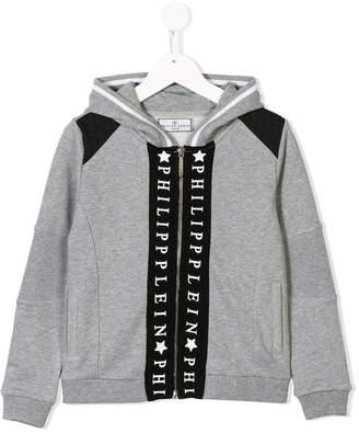 Philipp Plein Junior zipped hooded jacket