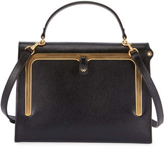 Anya Hindmarch Postbox Grain Leather Top Handle Bag