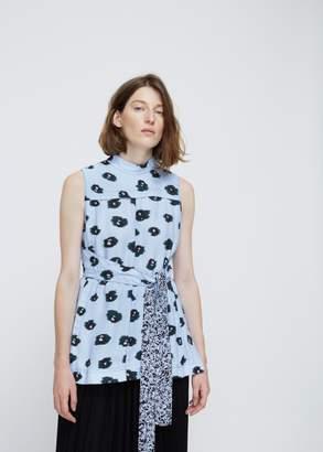 Proenza Schouler Printed Tie-Front Top