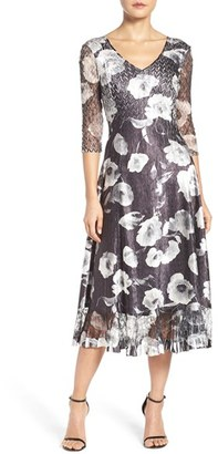 Women's Komarov Mixed Media Midi Dress $308 thestylecure.com