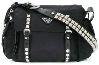 e4c4d7f2593c ... where to buy prada studded shoulder bag d00f6 8d07d