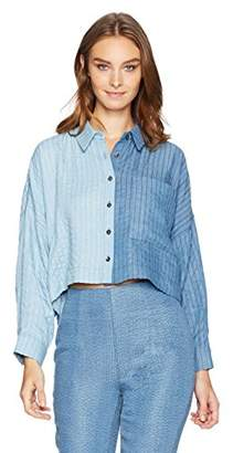 Mara Hoffman Women's Inez Button Down Long Sleeve Shirt