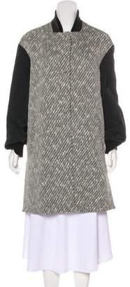 No.21 No. 21 Slit-Accented Tweed Coat