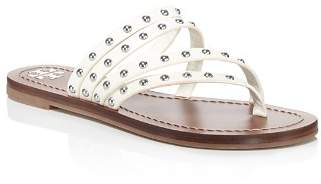 Tory Burch Women's Patos Studded Leather Thong Sandals