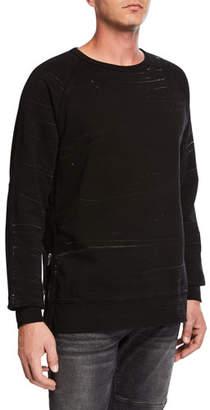 Hudson Men's Raglan-Sleeve Crewneck Sweatshirt