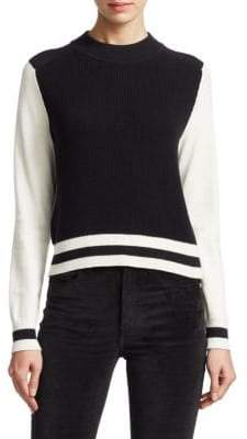Rag & Bone Dean Wool Colorblock Sweater
