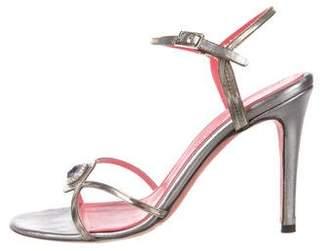 Judith Leiber Metallic Embellished Sandals