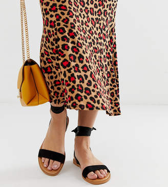 Asos Design DESIGN Wide Fit Flawless tie leg sandals
