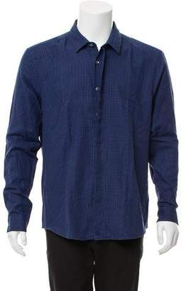 Surface to Air Gingham Print Button-Up Shirt