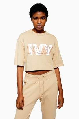 Ivy Park Layer Logo Cropped T-Shirt
