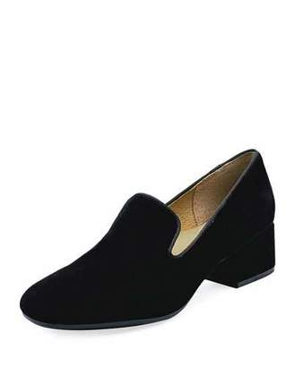Bettye Muller Concept Breeda Block-Heel Suede Loafers
