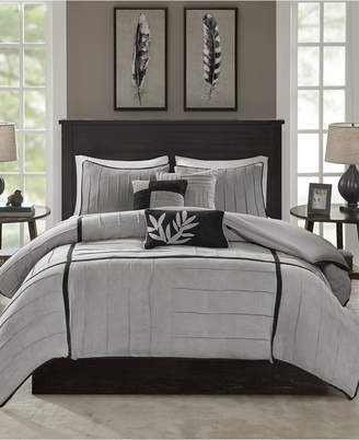 Dune Madison Park 6-Pc. Faux-Suede Full/Queen Duvet Cover Set Bedding