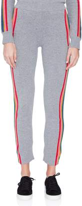 Allude Cashmere Rainbow Stripe Track Pant
