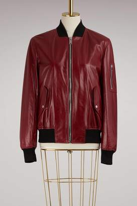 Proenza Schouler Shiny Leather Bomber Jacket