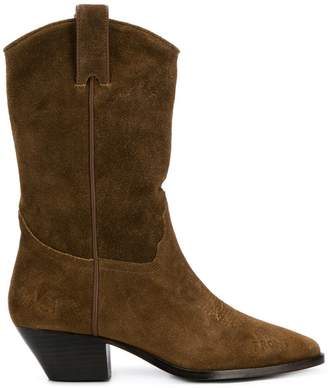 Ash suede western boots