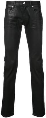Versace coated slim fit jeans