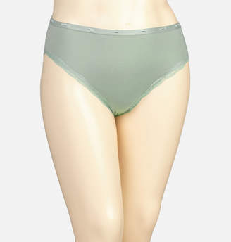 Avenue Ice Green Cotton Hi Cut with Lace