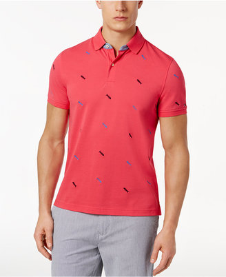 Tommy Hilfiger Men's Laguna Fish Custom Fit Polo $69.50 thestylecure.com