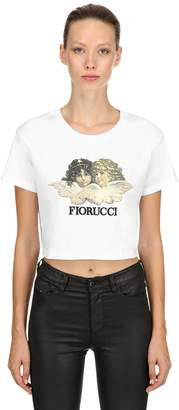 Fiorucci Vintage Angels Cropped Jersey T-Shirt