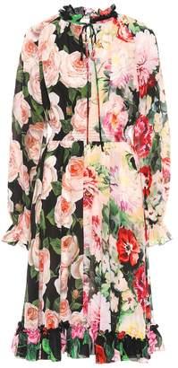 Dolce & Gabbana Printed silk midi dress