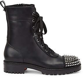 Christian Louboutin Women's TS Croc Studded Leather Combat Boots