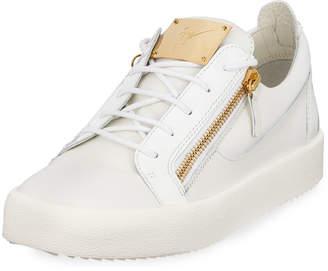 Giuseppe Zanotti Men's Patent Leather Low-Top Sneakers