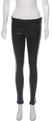 Balenciaga Mid-Rise Leather Leggings w/ Tags