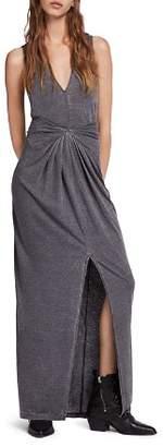AllSaints Elke Tie-Detail Maxi Dress