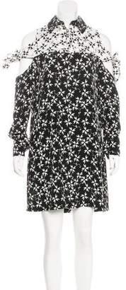 Tanya Taylor Silk Cold-Shoulder Dress