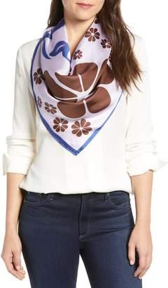 Kate Spade floral silk scarf