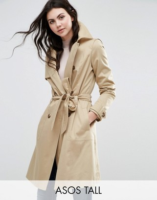 ASOS Tall ASOS TALL Classic Trench Coat $87 thestylecure.com