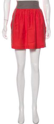 Ralph Lauren Moffat Colorblock Mini Skirt
