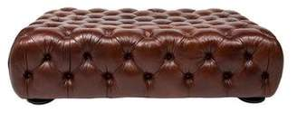 Ralph Lauren Leather Tufted Ottoman