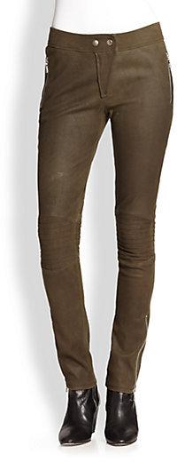 Rebecca Taylor Leather Moto Pants