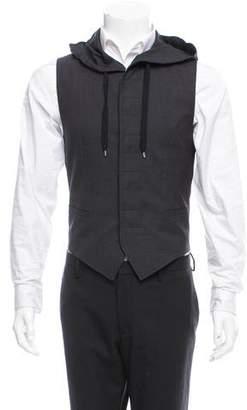 Christian Dior Hooded Virgin Wool Vest