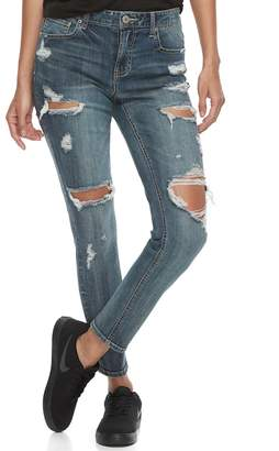 Almost Famous Juniors' Blown Out Ripped Skinny Jeans