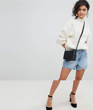 Vero Moda Scallop Edge Denim Shorts