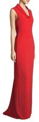 Escada Cowlneck Floor-Length Gown