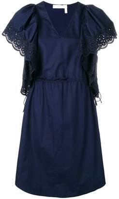 See by Chloe puffed sleeve dress