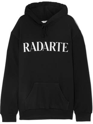 Rodarte Oversized Printed Cotton-blend Jersey Hoodie - Black