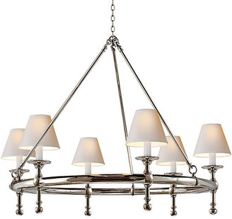 Visual Comfort & Co. Classic Ring Chandelier - Polished Nickel