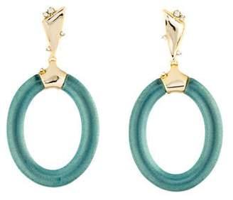 Alexis Bittar Crystal & Lucite Drop Earrings