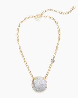 Mixed-Metal Coin Circlet Pendant Necklace