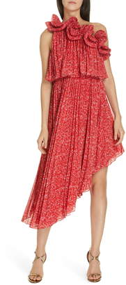 d4cf26af6e AMUR Alexia One-Shoulder Asymmetrical Dress