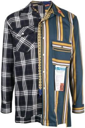 Puma Maison Yasuhiro oversized multiple pattern shirt