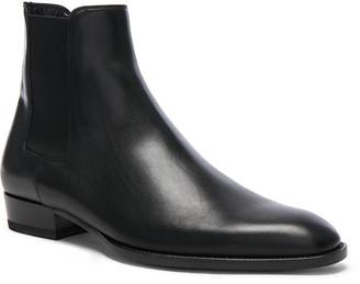 Saint Laurent Leather Wyatt Chelsea Boots