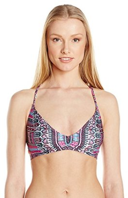Lucky Brand Women's Desert Dancer Cross-Back Bikini Top with Removable Cups $64 thestylecure.com